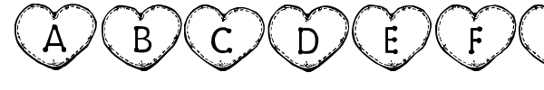 Country Hearts font preview