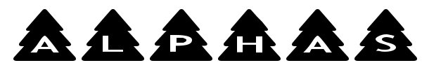 AlphaShapes Xmas Trees fuente