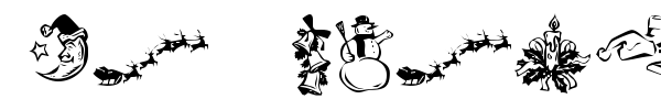 KR Christmas Dings 2004 font preview