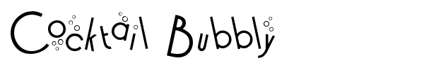 Cocktail Bubbly font preview